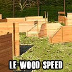 Le Wood Speed, terrain totalement symétrique